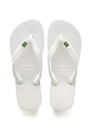 Flip Flops Havaianas Slippers - Havaianas Men's Brazil Flip Flop Sandal,White, 45/46 BR(12 M US Men's)