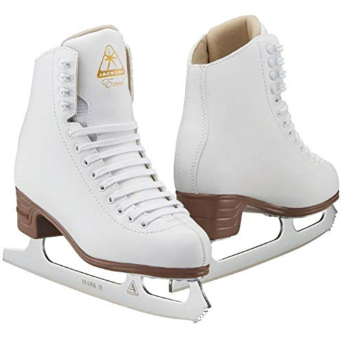 Jackson Ultima Excel JS1290 White Womens Ice Skates with Mark