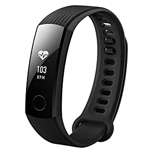 Honor Band 3 – Bracelet Tracker d'activité avec cardio-fréquencemètre – Étanche – Noir