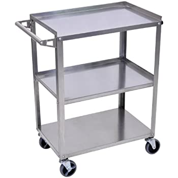 Luxor (SSC-3 Stainless Steel Utility Cart