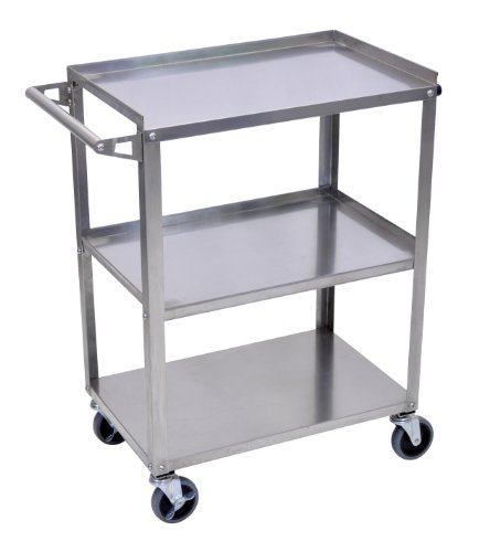 (Luxor (SSC-3 Stainless Steel Utility Cart )
