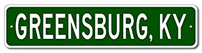 Custom Aluminum Sign GREENSBURG, KENTUCKY US City and State Name Sign