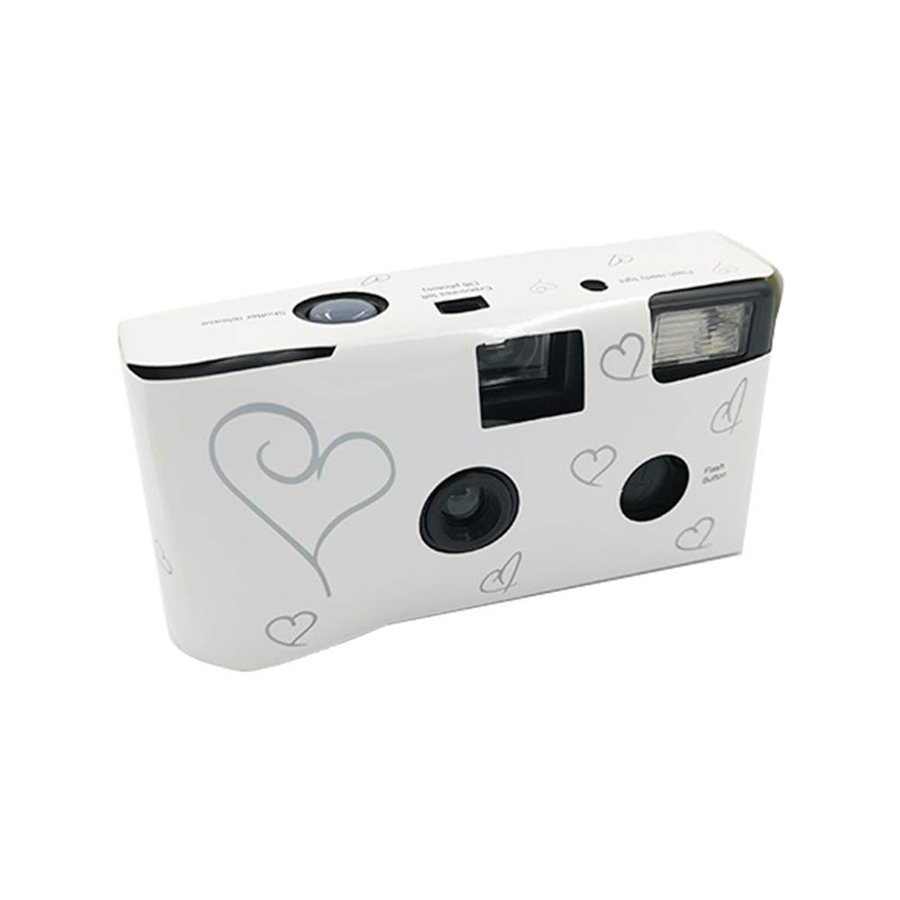 Retro Disposable Camera, Manual Optical Point-and-Shoot Camera with 35MM Disposable Film, Film Camera with Flash, for Children's Gifts, Weddings, Tourist Attractions, Film Lovers (1 Pack) by AudeRhine