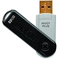 Imation USB 2.0 Pivot Plus 256-Bit AES Hardware Encryption Flash Drive 32GB (66000103177)