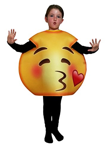 Child Kiss Costume (Favorite Emoticon Emoji Costumes for Boys and Girls (Child, Kiss)