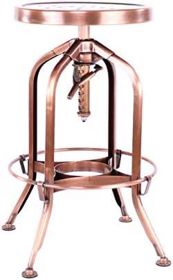 Design Lab MN Toledo Adjustable Barstool, 1, Vintage Copper