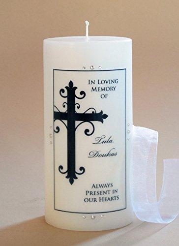 (Large Ornate Cross Personalized 3x6 Memorial)