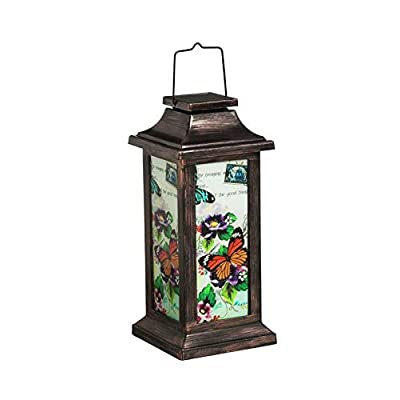 New Creative Evergreen Garden Fluttering Garden Friends Solar Lantern, Butterfly Outdoor Décor for Your Lawn and Garden : Garden & Outdoor