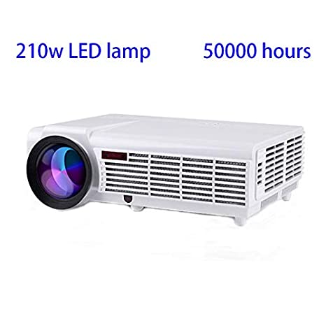 Gzunelic LCD Projector, 6200 Lumens 1080P Video LED Projector, Home Theater Full HD Proyector wiith 2 hdmi 2 USB AV VGA Audio interfaces Ideal for ...