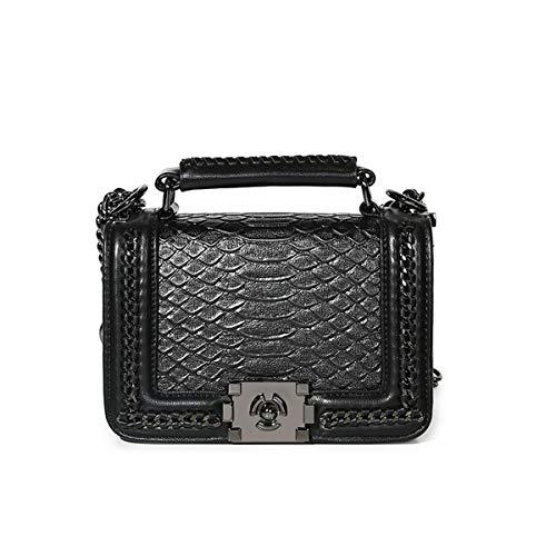 Kommschonff Womens Handbags Clutch Bag Snakeskin Pattern Twist Lock Shoulder Clutch Party Wedding Purse Bag