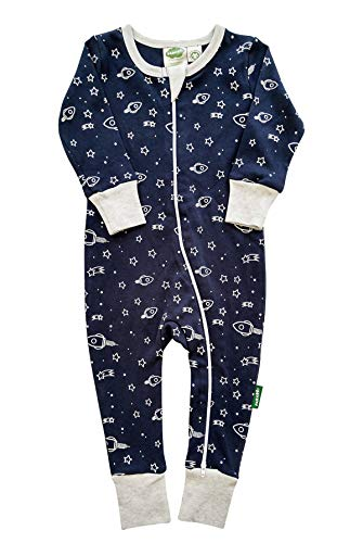 - Parade Organics Signature Print '2 Way' Zipper Romper Navy Rockets 18-24 Months