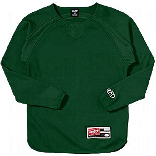 Rawlings Youth Team Jackets - Rawlings Boys' Yudfp Youth Long Sleeve Fleece Pullover(Dark Green, Small)