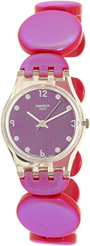 Price comparison product image Swatch Girl's Lady LK357B Pink Plastic Swiss Quartz Watch