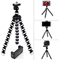 mossto, Gorilla Tripod/Mini Tripod 13 inch for Mobile Phone with Holder for Mobile, Flexible Gorilla Stand for DSLR & Action Cameras