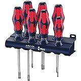 WERA 05227700001 Red Bull Racing Screwdriver Set, Kraftform Plus Lasertip, Rack, 7-Piece