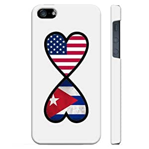 SudysAccessories American Cuban Forever Cuba Flag Infinity Forever iPhone 5 Case iPhone 6 4.7 Case - SoftShell Full Plastic Direct Printed Graphic Case