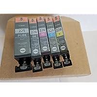 5 Pack OEM Canon PGI 225 / CLI 226 Genuine Ink Cartridges Full Set - Bulk