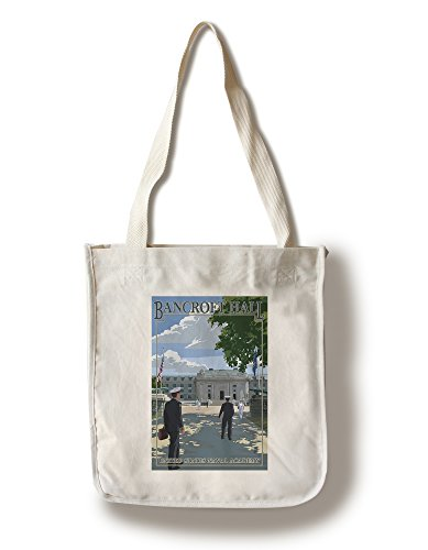 Lantern Press Bancroft Hall - United States Naval Academy - Annapolis, Maryland (100% Cotton Tote Bag - Reusable)