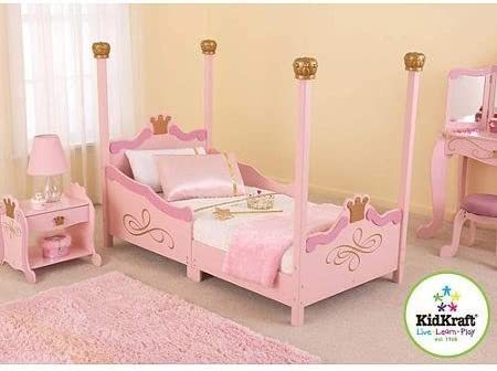 Amazon.com: For Girls Princess Toddler Pink Bed. A Cute ...