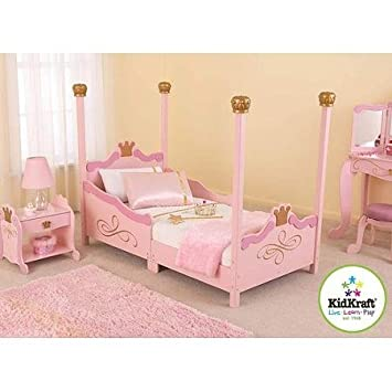 Amazon.com: For Girls Princess Toddler Pink Bed. A Cute & Charming ...