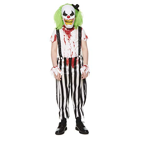 Scary Clown Costume - Halloween Adults Creepy Killer Horror Outfit, Medium