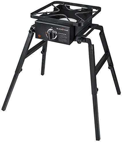 Blackstone Single Burner Camp Stove - Portable - Adjustable Legs for Uneven Terrain - Anywhere Stove