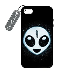 New Case CASECOCO Skrillex iPhone 4/4s case cover- protective Hard Back / Black Rubber Sides case cover for iPhone YCXBa74qmLX 4/4s