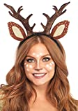 Leg Avenue Women's Deer Fawn Antler Headband, Brown, One Size