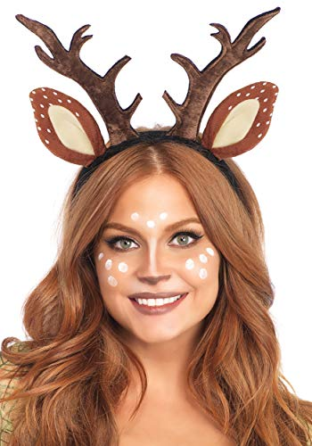 (Leg Avenue Women's Deer Fawn Antler Headband, Brown One)