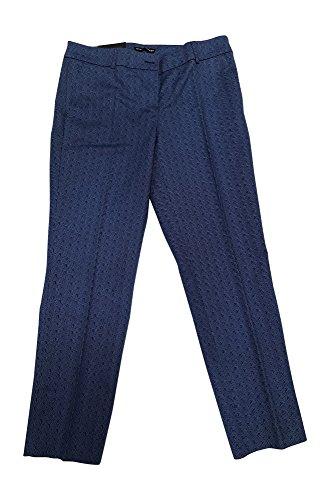 Hilary Radley Women's Stretch Slim Leg Crop Pant 6 Blue Combo