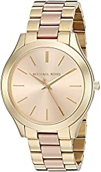 Michael Kors Watches Slim Runway Gold-Tone 3 Hand Watch