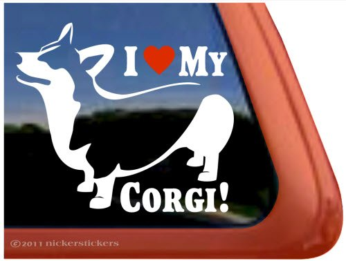I Love My Corgi Pembroke Welsh Corgi Dog Vinyl Window Auto Decal - At The Shops Pembroke