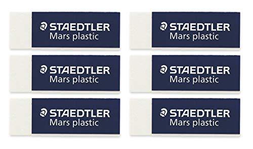 Bulk Buy: Staedtler Mars Plastic Eraser 52650BK (6-Pack)
