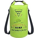 Forbidden Road Waterproof Dry Bag 2L / 5L / 10L / 15L / 20L Roll Top Sack Bag for Kayaking Boating Camping Long Adjustable Shoulder Straps Included (8 Colors)