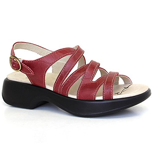 Dromedaris Womens Golden Eagle Sandal Red hPL7U8vV1