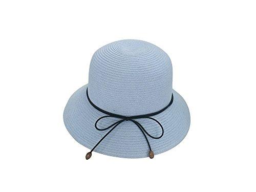 Eté Melon Pour Bleu Chapeau soleil Femme Voyage Bob De Paille Plage Ciel Acvip 0UvYPFn