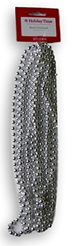 Holiday Time Silver Bead Garland - 18