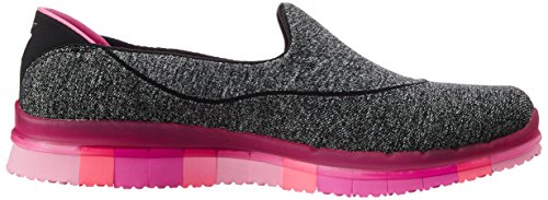 Skechers Go Flex, Women's Trainers Black (Black/Hotpink)
