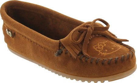 Kitty on Minnetonka Kilty Womens Brown Slip Hello Moccasin ZE1x16vw