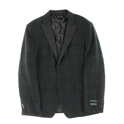 Ralph Lauren Mens Blazer (Lauren Ralph Lauren Mens Wool Plaid Two-Button Suit Jacket Green 40R)