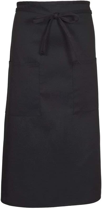 B00CEFBYV8 FAME Adult 2-Pocket Long Bistro Apron (Black-O/S 79051) F54-83407 41v5rqICLAL