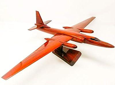 U-2 Spyplane Replica Airplane Model Hand Crafted with Real Mahogany Wood