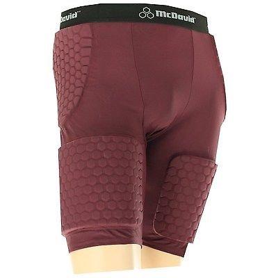 UPC 029369014855, McDavid 7580T Men's Thudd Hexpad Shorts Extended Thigh Maroon Medium [Misc.]