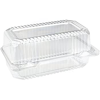 Amazon Com Dart Clear Hinged Lid Plastic Container 9 Quot X 5