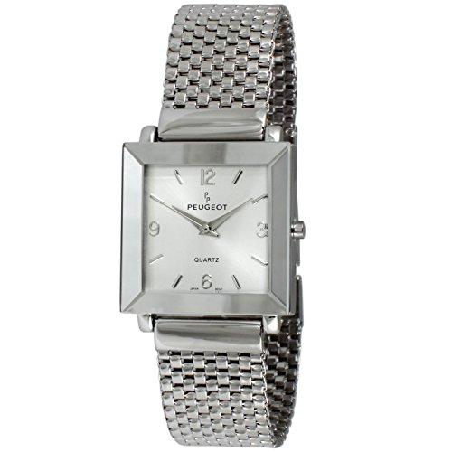 Peugeot Women's 455SL Silver-tone Mesh Watch