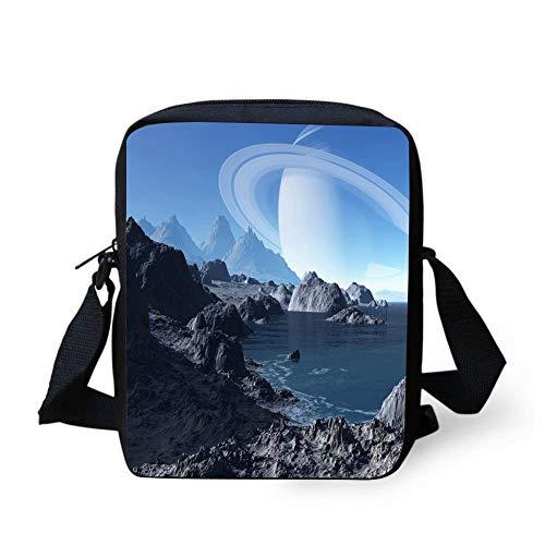 - WEKJNskeee Saturn Custom Crossbody Messenger Bag Shoulder Tote Sling Postman Bags One Size