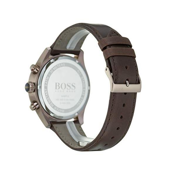 Hugo Boss Hommes Chronographe Quartz Montre avec Bracelet en Cuir 1513604