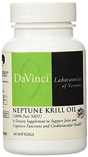UPC 026664299567, DaVinci Labs - Krill Oil 60 SoftGels
