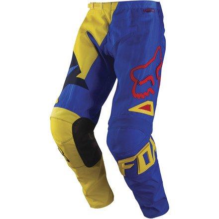 Fox Racing 180 Vandal Kids Boys MotoX Motorcycle Pants - Yellow/Blue / Size 5