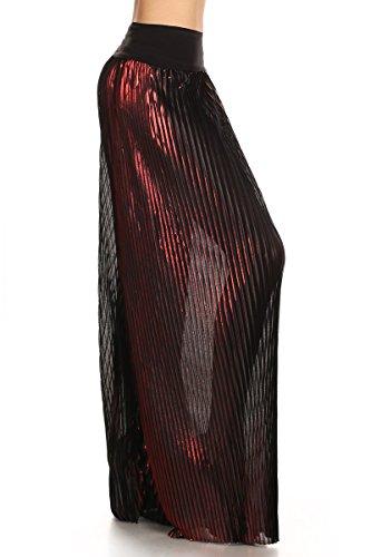LA Palazzo Uptown Prendas de vestir Womens doblar Cintura Wide Leg Palazzo Pantalones